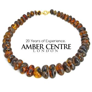Dominican Blue Amber Natural Beaded Necklace First Grade Amber A0107 RRP£4950!!