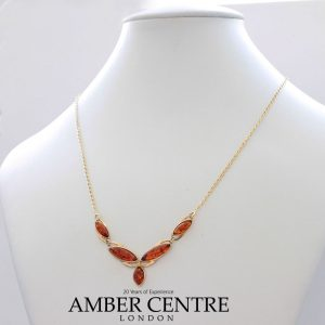 Italian Handmade German Baltic Amber Necklace in 9ct solid Gold- GN0055 RRP£475!!!