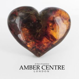 """Mexican 25 Million Years Old Antique Large Amber Heart """"Love"""" OT4776 RRP £2950!!!"""