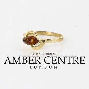 Italian Handmade Elegant German Baltic Amber Ring in 9ct solid Gold GR0216 RRP£245!!!