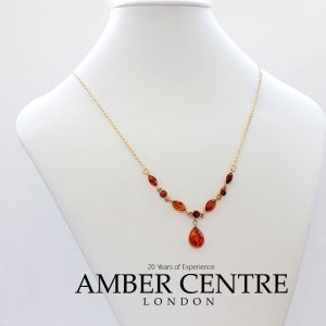 Italian Handmade German Baltic Amber Necklace in 9ct solid Gold- GN0056 RRP£575!!!