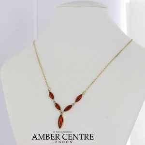 Italian Handmade German Baltic Amber Necklace in 9ct solid Gold- GN0053 RRP£425!!!
