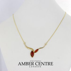 Italian Handmade German Baltic Amber Necklace in 9ct solid Gold- GN0062 RRP£525!!!
