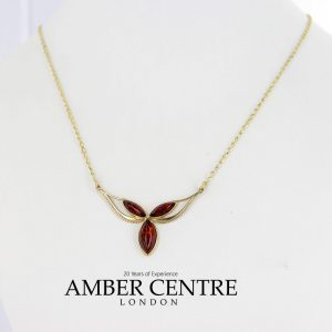 Italian Handmade German Baltic Amber Necklace in 9ct solid Gold- GN0063 RRP£395!!!