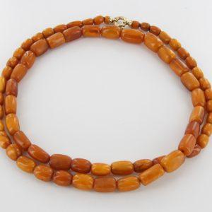 Antique German Baltic Amber Unique Butterscotch Beaded Necklace A0124 RRP5500!!!