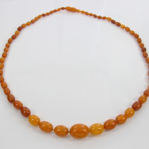 Antique German Baltic Amber Unique Butterscotch Beaded Necklace A0132 RRP£3950!!!
