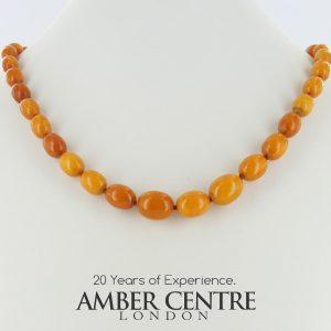 Antique German Baltic Amber Unique Butterscotch Beaded Necklace A0126 RRP£1950!!