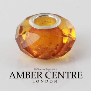 Like Trollbeads Pandora Handmade Genuine Handmade German Amber Prism CHA80 RRP£35!!!
