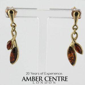 Italian Handmade Unique German Baltic Amber in 9ct Gold Drop Earrings GE0081 RRP£195!!!