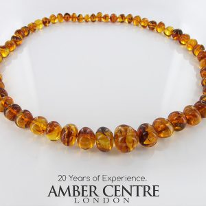 German Baltic Amber Natural Unique Bead Large Necklace Handmade A307 RRP2350!!!