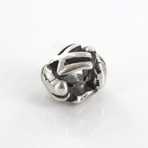 Genuine Trollbeads Silver Charm Letter Bead W 11144 W RRP£35!!!