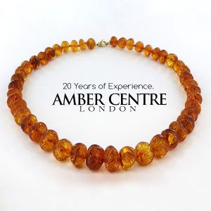 German Genuine Baltic Amber Unique Hand Carved Beads - 69GR A0010 RRP£1990!!!