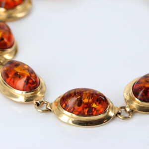 ITALIAN MADE UNIQUE GERMAN BALTIC AMBER BRACELET IN 18CT solid GOLD -GBR101 RRP£2450!!!