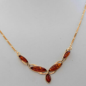 Italian Handmade German Baltic Amber Necklace in 9ct solid Gold- GN0055H RRP£525!!!