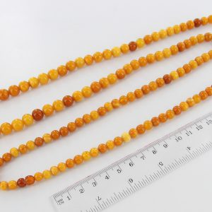 Antique German Baltic Amber Unique Butterscotch Beaded Necklace A0120 RRP£6250!!