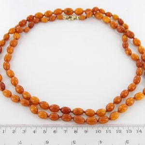 Antique German Baltic Amber Unique Butterscotch Beaded Necklace A0121 RRP£5950!!