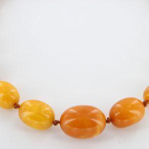Antique German Baltic Amber Unique Butterscotch Beaded Necklace A0130 RRP£2950!!
