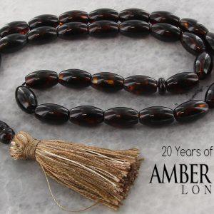 Genuine German Handmade Baltic Amber Worry Beads AW0075 RRP£375!!!