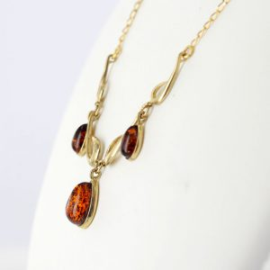Italian Handmade German Baltic Amber Necklace in 9ct Gold- GN0051 RRP£595!!!