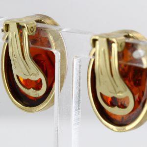 Italian Handmade German Baltic Amber in 9ct Gold Clip on Earrings GCL0002 RRP£595!!!