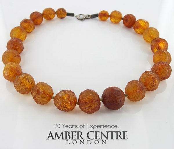 German Baltic Amber Natural Unique Bead Necklace Handmade A308 – RRP1200!!!