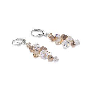 German Coeur de Lion Rose Handmade Gold Plated Crystal Earrings-4488 RRP£95!!!
