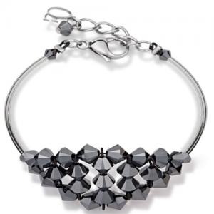 German Handmade Coeur De Lion Black/Silver Necklace and Bracelet -4723 RRP£350!!!