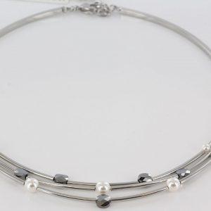 German Handmade Coeur De Lion Crystals & Pearls Necklace-4761/1700 RRP 125!!!