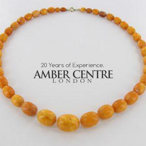 Antique German Baltic Amber Unique Butterscotch Beaded Necklace A0131 RRP£6500!!