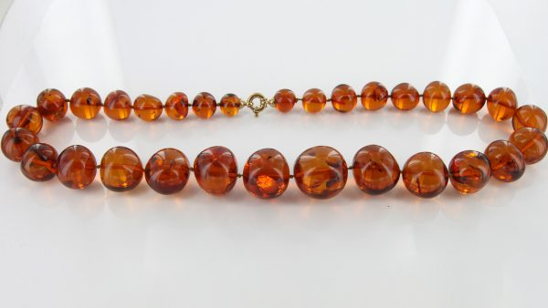 German Baltic Amber Natural Unique Bead Necklace Handmade A309 – RRP£1600!!!