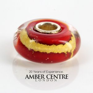 Genuine Trollbeads Handmade Root Chakra Charm contains 22ct gold 62001 RRP£40!!!