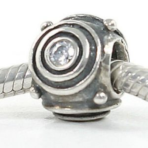 Genuine Pandora Unique Silver ZIRCONIA CIRCLES Charm - 790120CZ RRP£50!!!