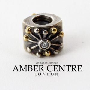 Genuine Pandora 925 Silver and 14ct Gold Zirconia Star Charm -790188CZ RRP£95!!!