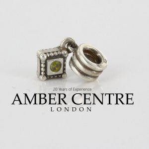 Genuine PANDORA Silver and Green Zirconia Square Dangle Charm 790254GCZ RRP£50!!