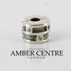 Pandora Genuine 925 ALE Silver Abstract Clip with Clear CZ - 790291CZ RRP£75!!!