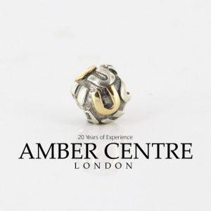 Genuine Pandora Silver 925 ALE and 14ct Gold Charm Letter U 790298U RRP£95!!!