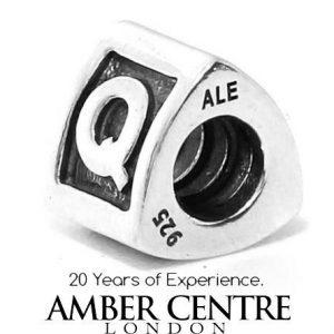 Genuine Pandora 925 Silver 925 ALE Charm - Letter Q - 790323Q - RRP£30!!!