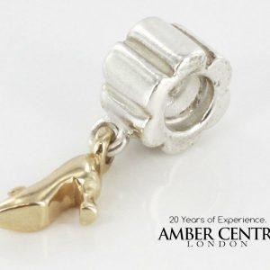 Genuine Pandora Retired 925 Silver Charm -14ct GOLD STILETTO- 790349 RRP £145!!!
