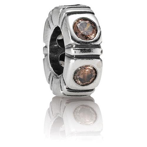 Pandora Genuine 925 ALE Silver BROWN NORTHERN LIGHT SPACER -790368BCZ RRP£45!!!