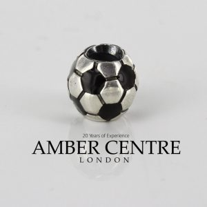 Genuine Pandora Black Soccer Ball Charm 925 ALE - retired - 790406 RRP£70!!!