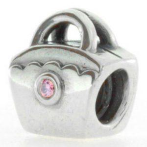 Pandora Genuine 925 ALE PINK ZIRCONIA SCALLOPED BAG 790473PCZ RRP£60!!!