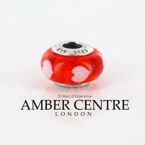 PANDORA Rare Red Heart Authentic Unique 925 ALE Charm 790658 RRP£45!!!!
