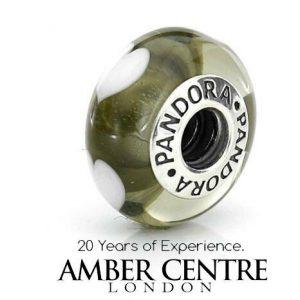 Genuine Unique Pandora Charm Murano Glass S925 ALE -GREY HEARTS- 790666 RRP£45!!!