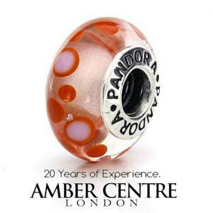 Genuine Pandora CINNAMON BUBBLES Charm Murano 925 ALE Glass - 790688 RRP£45!!!