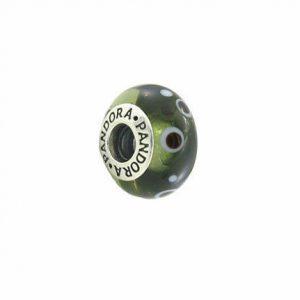 Pandora Black Bubble Murano Glass Charm 925 Silver 925 ALE 790691 - RRP£45!!!