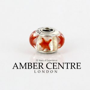 PANDORA Authentic Unique Cinnamon Stars Murano Glass Charm 790906 RRP£45!!!!