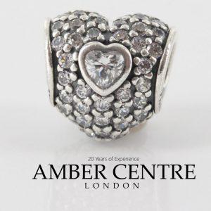 Genuine Pandora Charm S925 ALE & Zirconia Pave Triple Heart -791168CZ RRP£75!!!