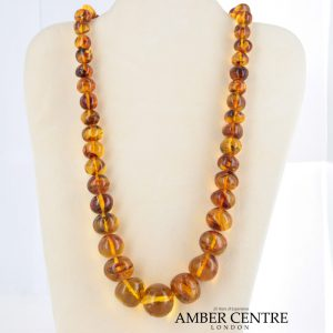 German Baltic Amber Handmade Bead Necklace with 9ct Gold Clasp A0064 RRP£1950!!!