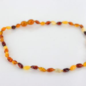Teething Baby/Child Necklace Genuine Natural Multicoloured Baltic Amber A09238 RRP£25!!!