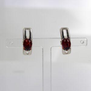 Italian Style German Baltic Amber Handmade Stud Earrings 925 Silver ST0042 RRP£ 20!!!